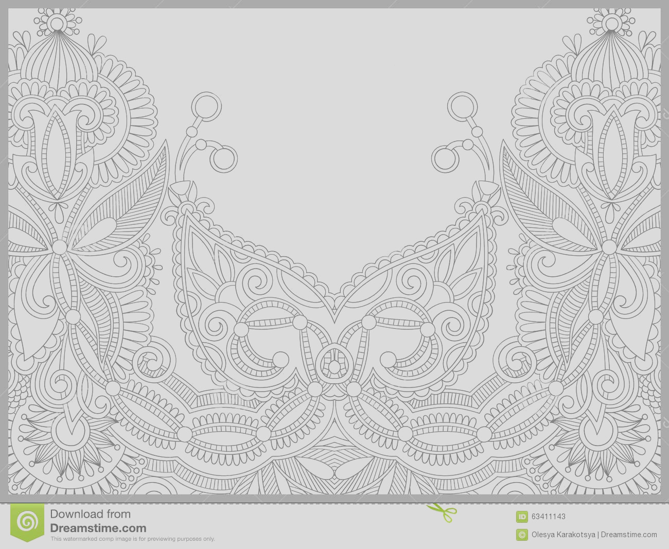 stock illustration unique coloring book page adults flower paisley design joy to older children adult colorists who like line art image