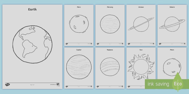 us t planets colouring pages
