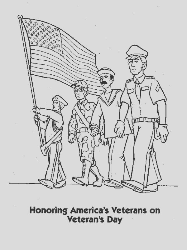 veterans day coloring pages free