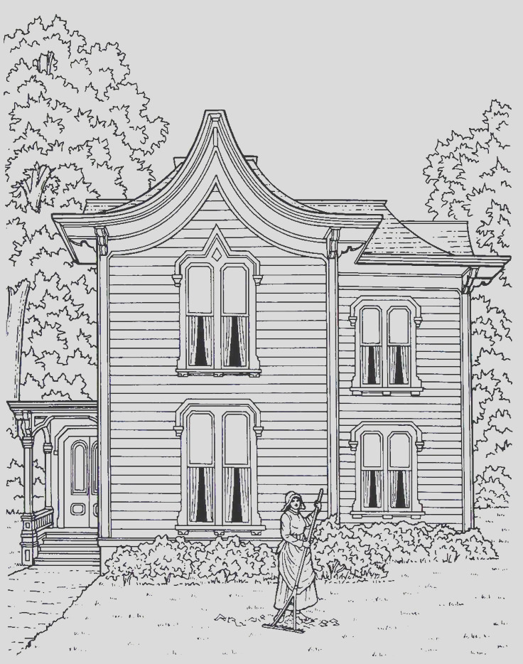 victorian houses coloring book pages