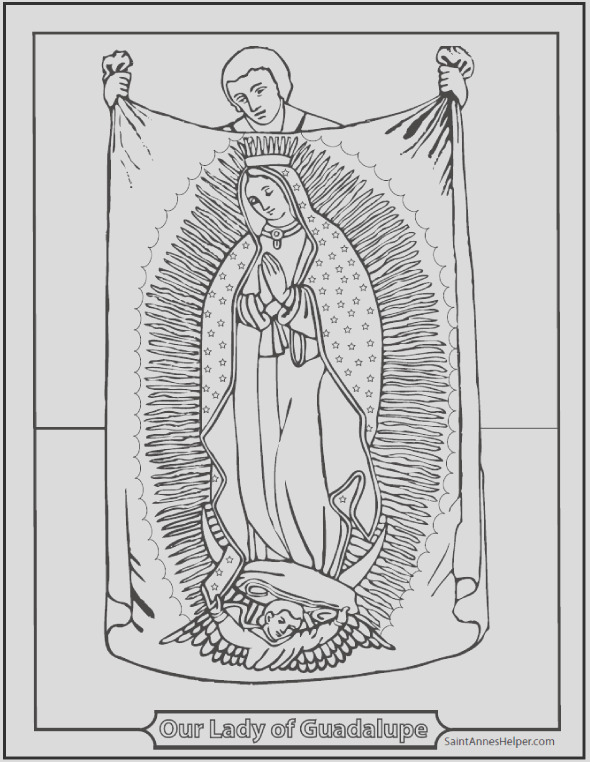 lady of guadalupe coloring page