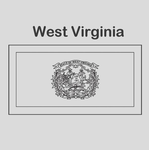 state flag of west virginia coloring page