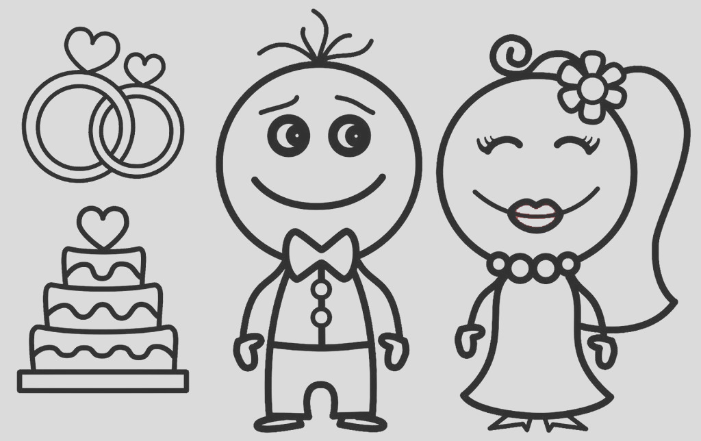 top 14 romantic charming bride groom coloring pages ages