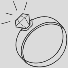 wedding ring coloring pages