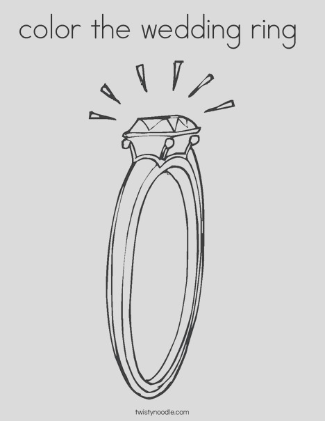 color the wedding ring coloring page