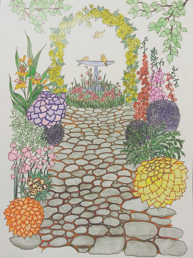 whimsical gardens coloring book