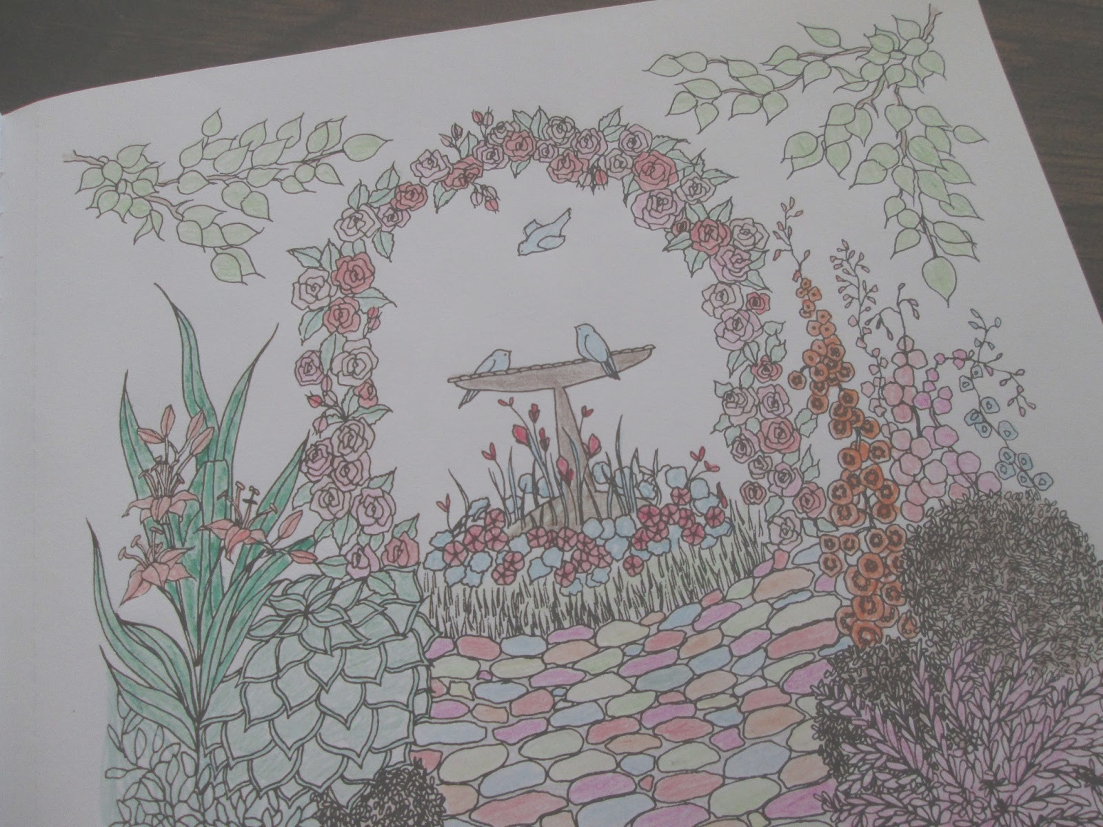 whimsical gardens coloring book by