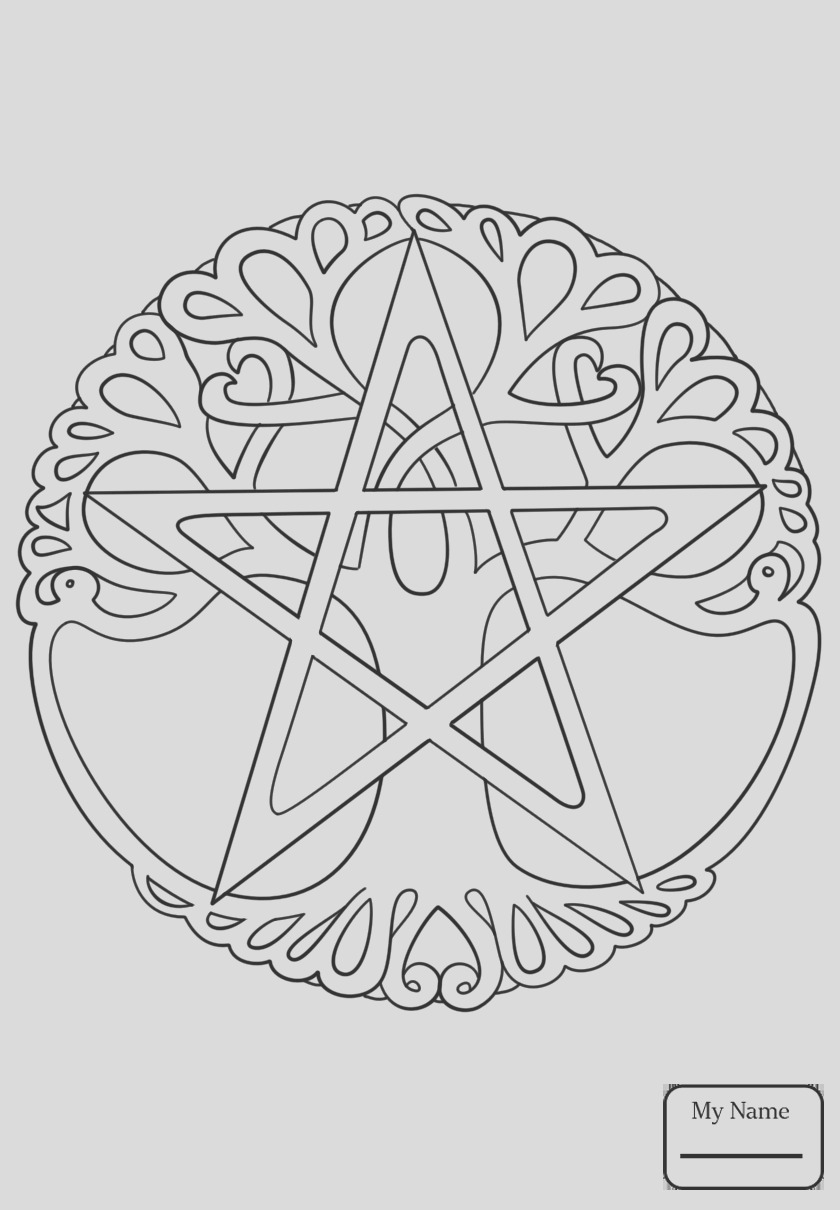 wiccan pentagram coloring pages sketch templates