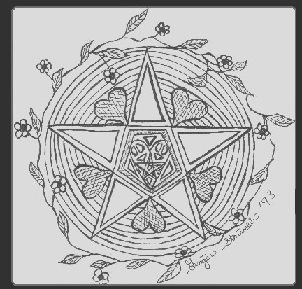 wicca color pages for children