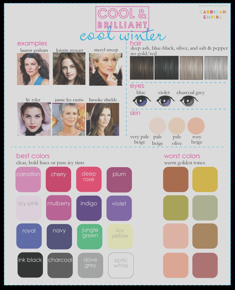color analysis 3 degrees of cool