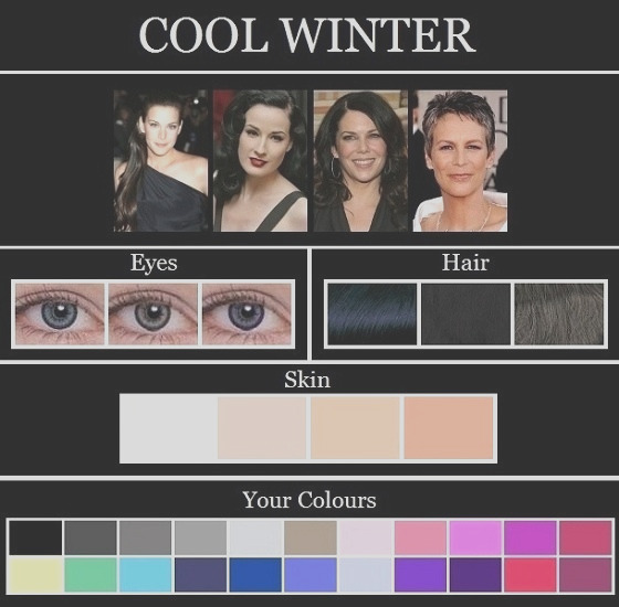 color analysis cool true tinted winter