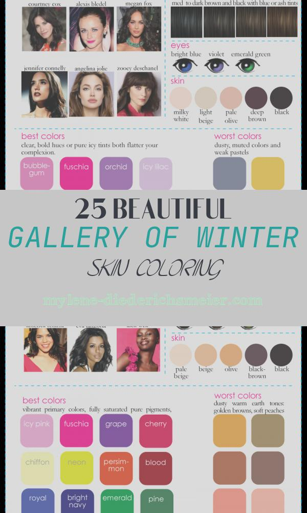Winter Skin Coloring Best Of Color Analysis 3 Degrees Of Cool & Brilliant