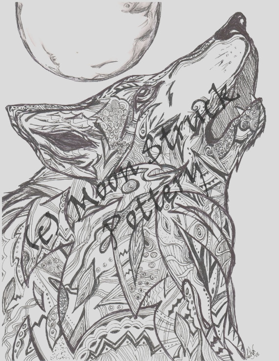 animal coloring page wolf coloring page