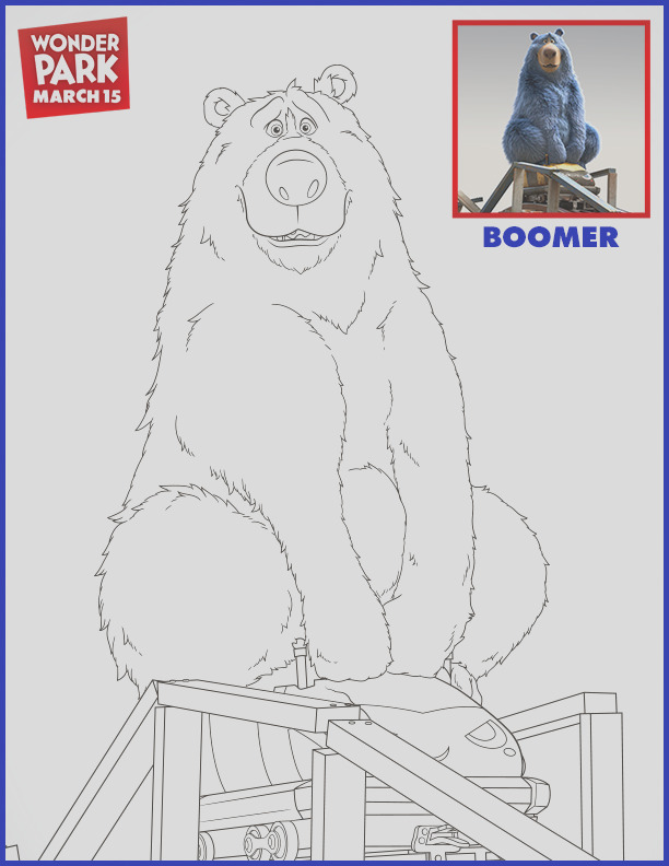 easy paper plate boomer craft from the new wonderpark movie