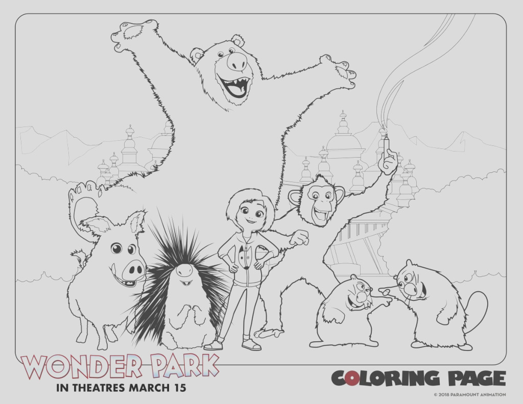 able coloring pages for wonder park in theaters march 15th