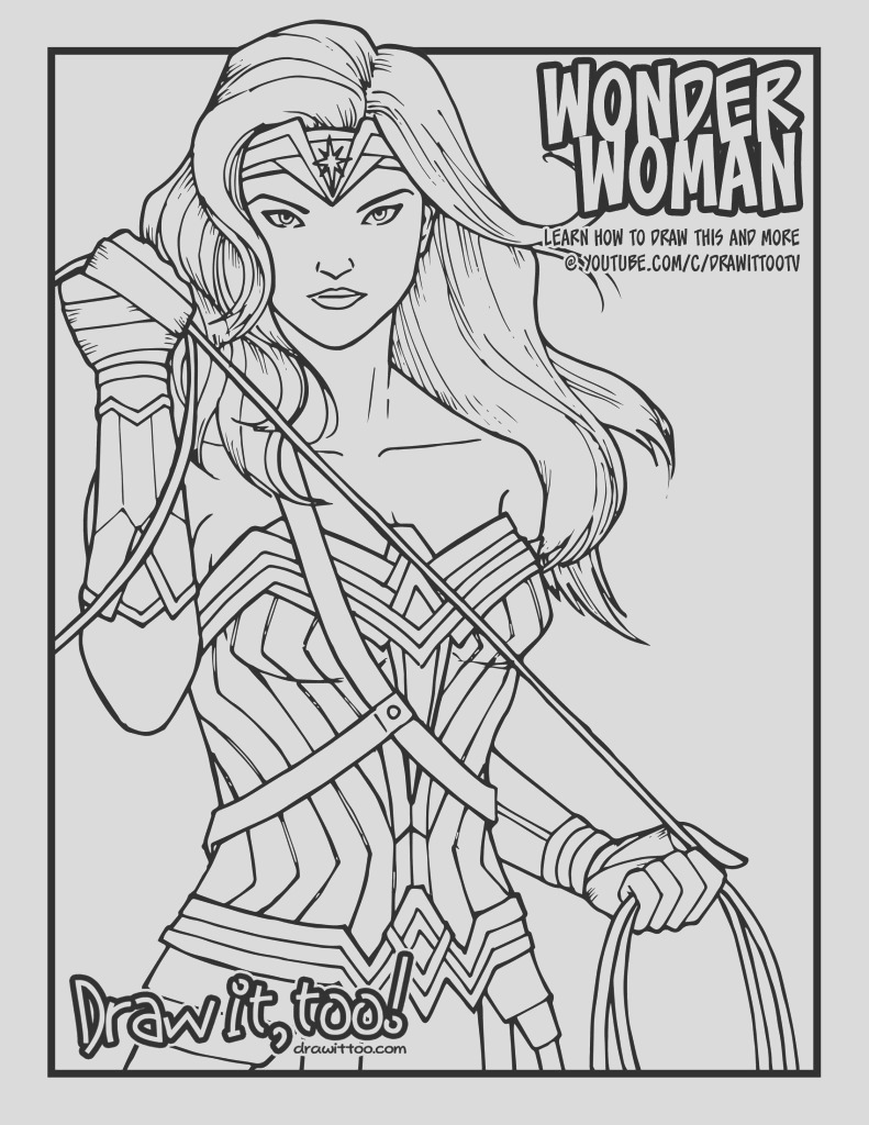 how to draw wonder woman wonder woman 2017 movie narrated easy step by step tutorial
