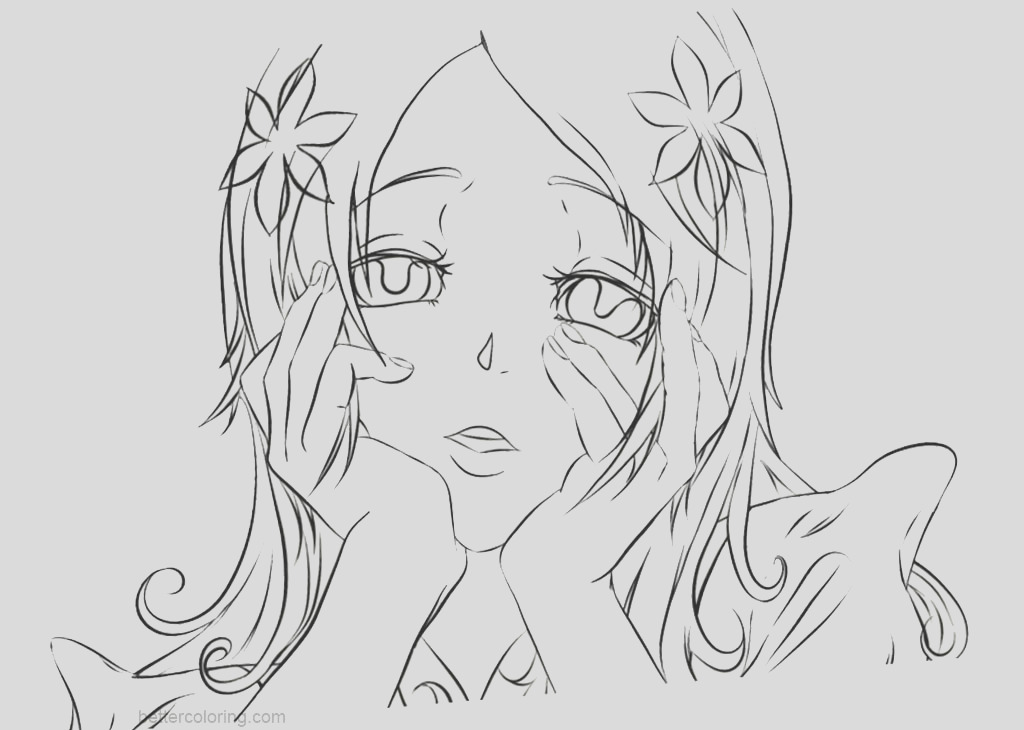 yandere simulator coloring pages fan art of yandere orihime by hitagicrab