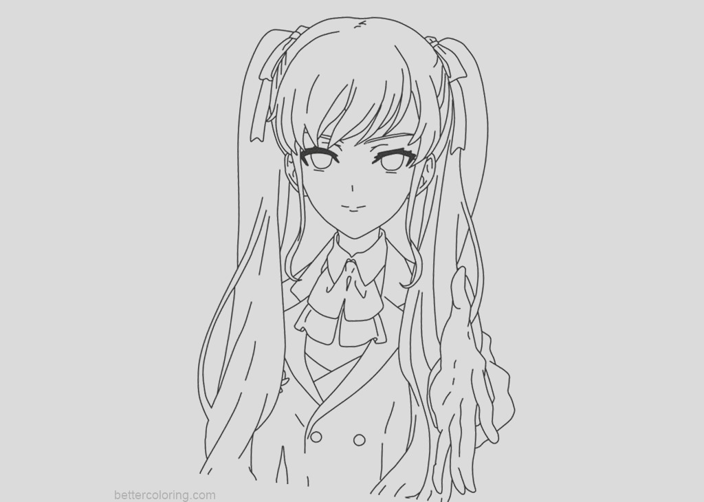 yandere simulator coloring pages