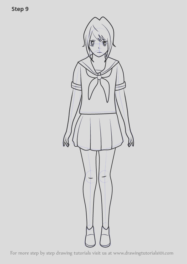 how to draw yandere chan from yandere simulator