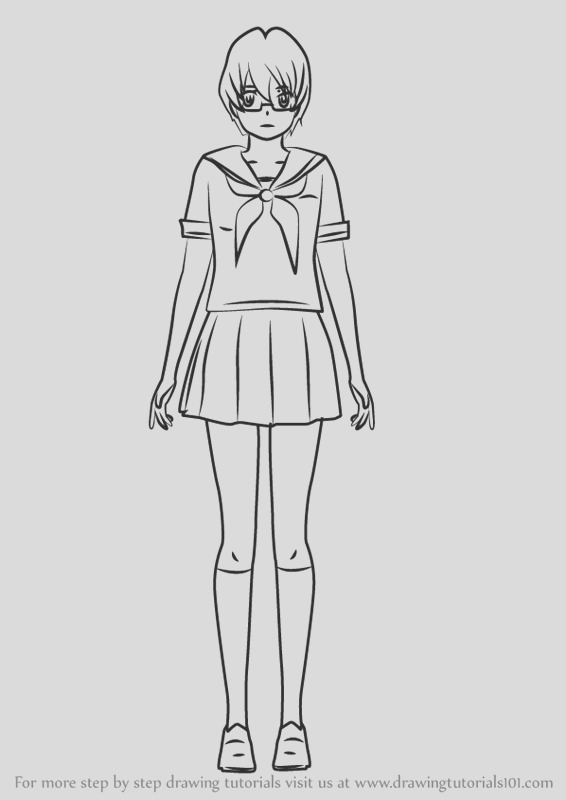yandere simulator coloring pages sketch templates