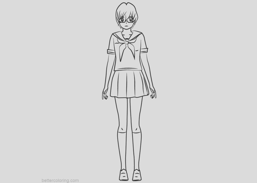 yandere simulator coloring pages info chan