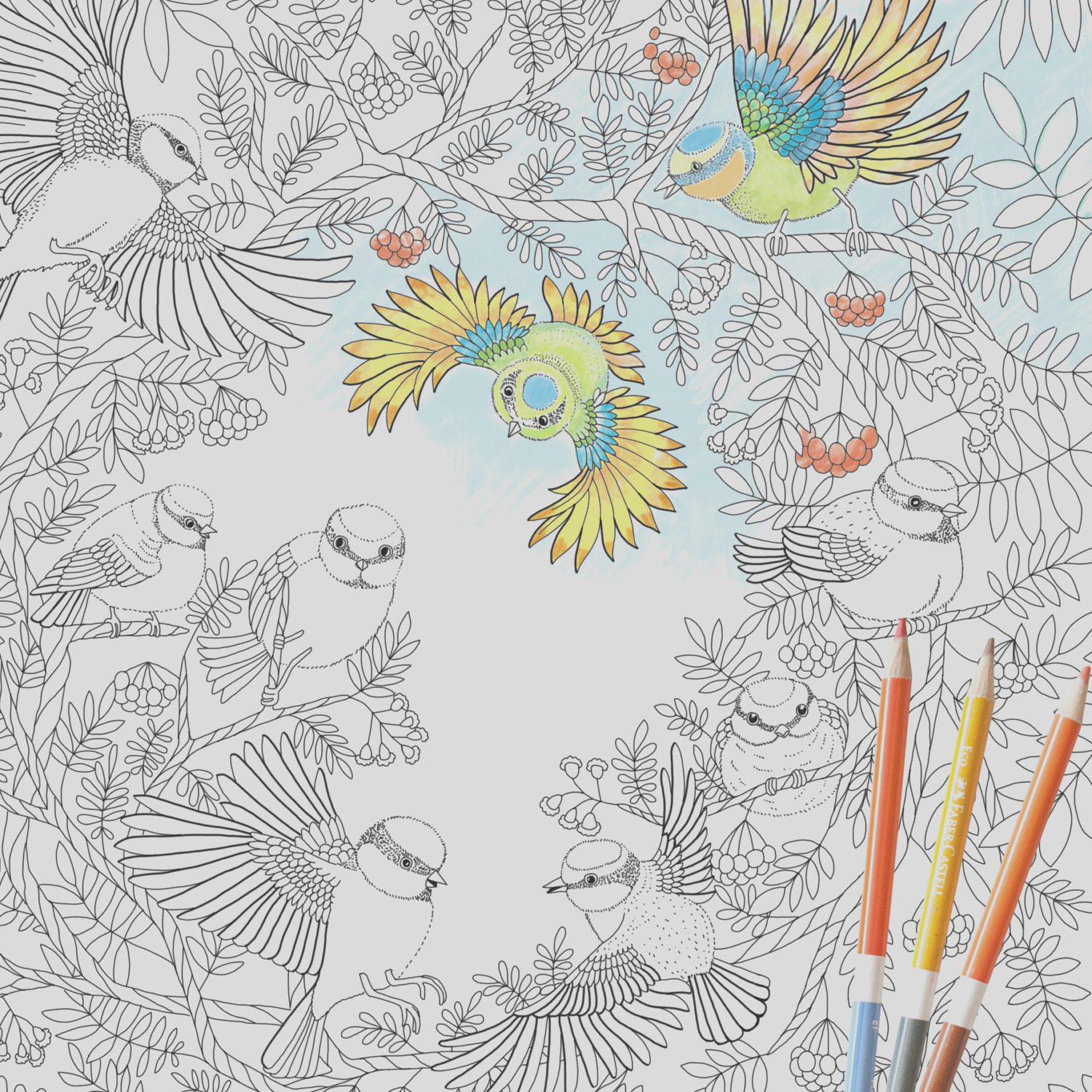 coloring page instant paradise