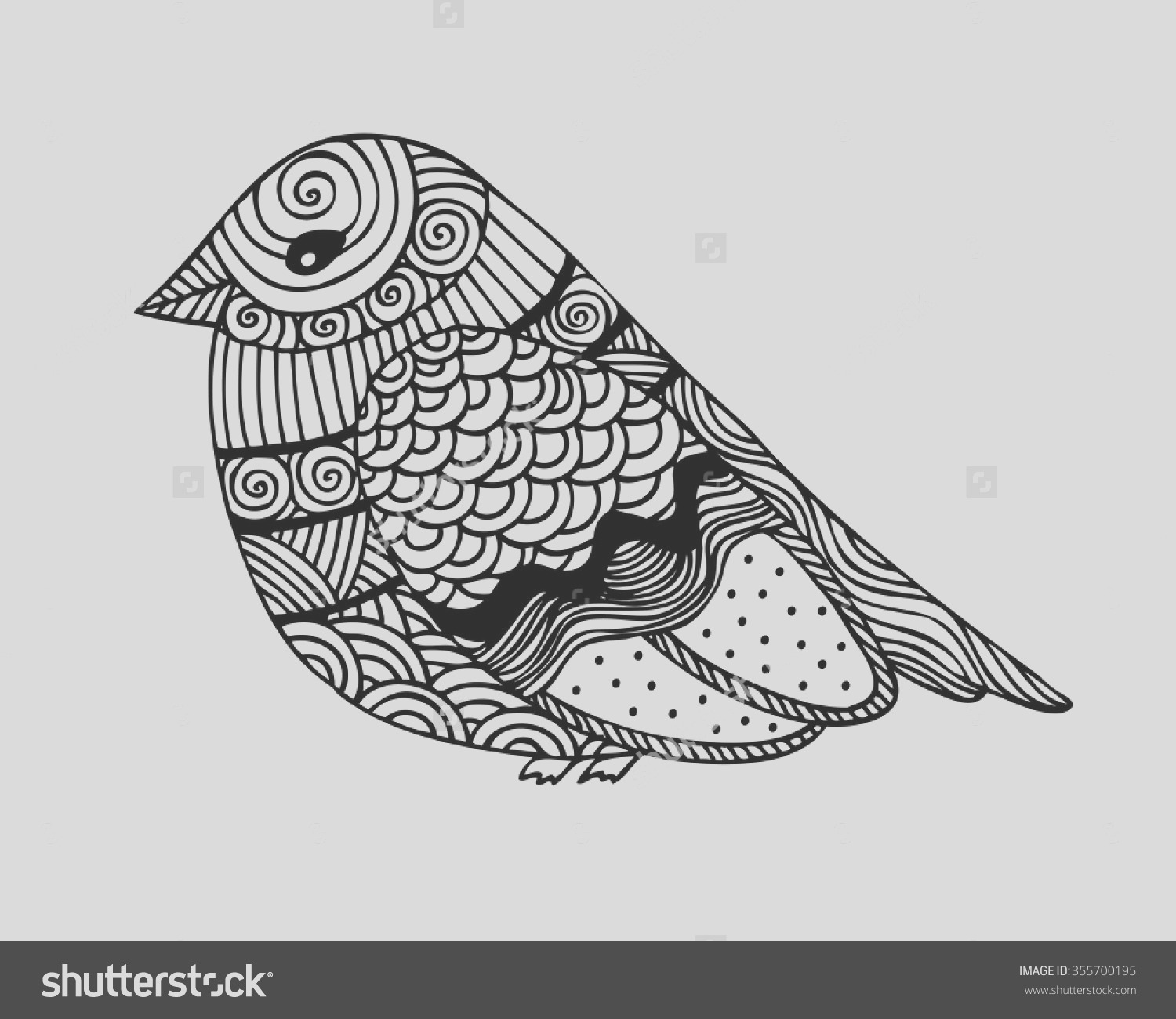 abstract bird coloring pages for adults