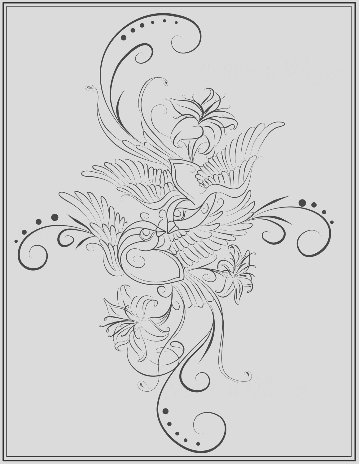 adult coloring page bird coloring page