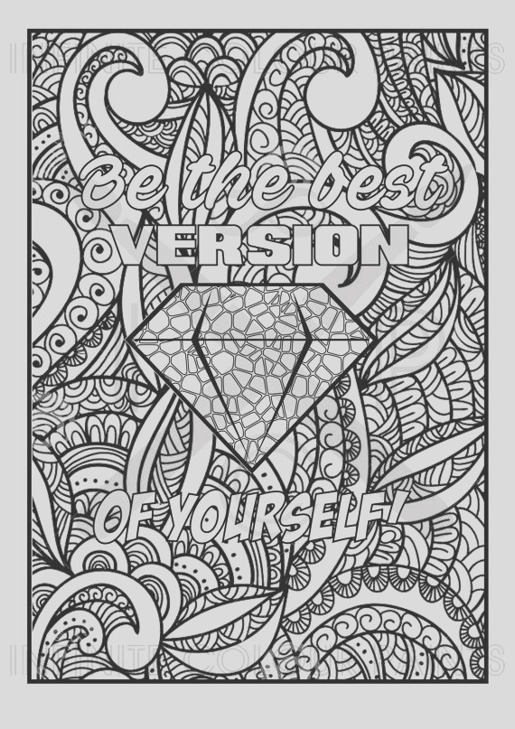 words colouring pages for adults