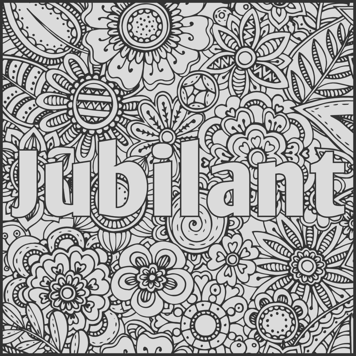 Adult Coloring Page with Words New Jubilant Positive Word Coloring Book Printable Coloring
