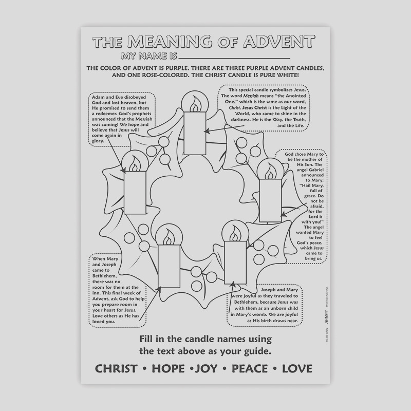 color your own poster meaning of advent rc469