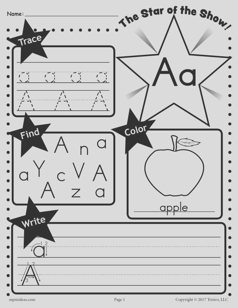 26 alphabet worksheets tracing coloring writing more a7746