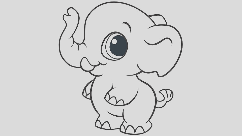 baby animal coloring pages elephant