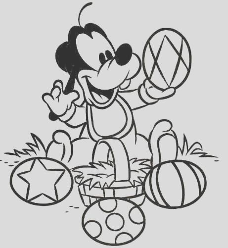 baby goofy coloring pages