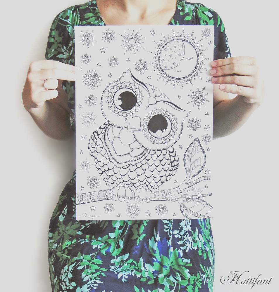 hattifants owl love coloring pages