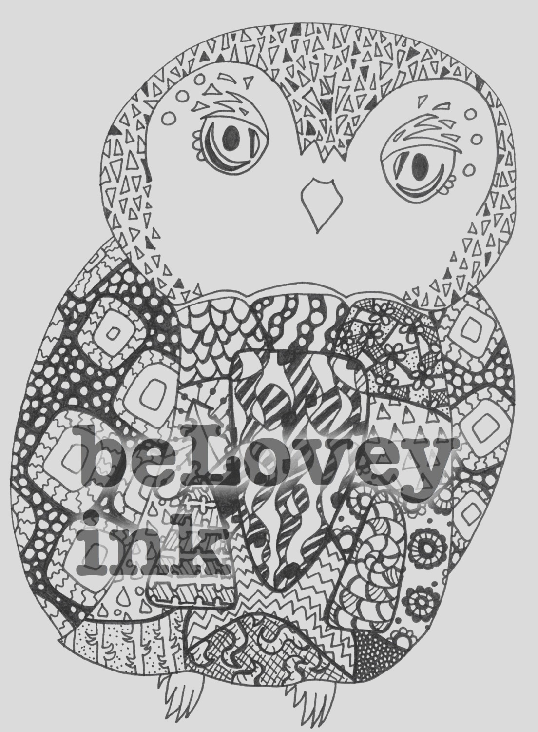 baby owl coloring page printable sheet