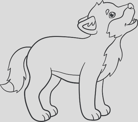 coloring pages little cute baby wolf howls gm