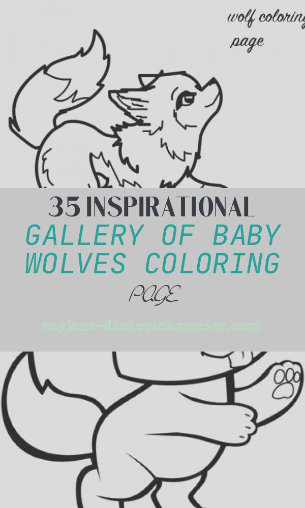 Baby Wolves Coloring Page Lovely Baby Wolf Coloring Page Download & Print Line Coloring