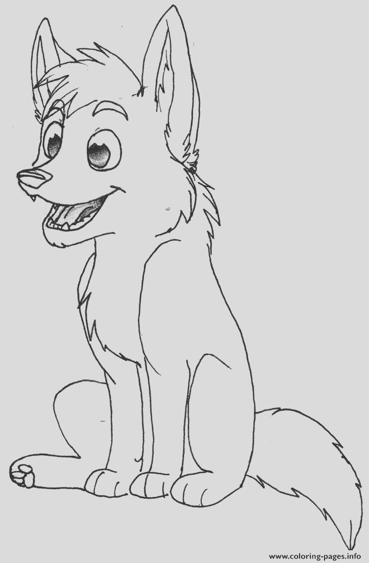 baby wolf printable coloring pages book 9444