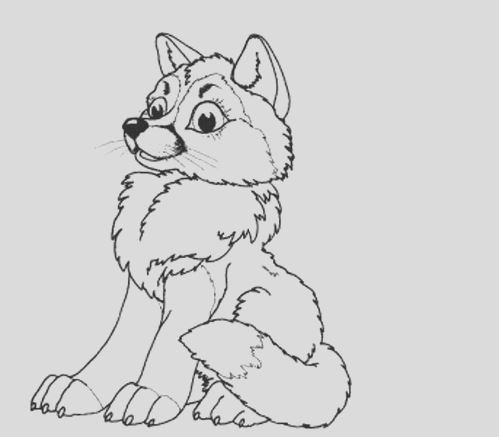 baby wolf coloring pages