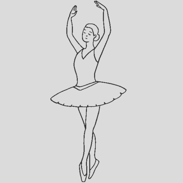 ballerina fifth position coloring page