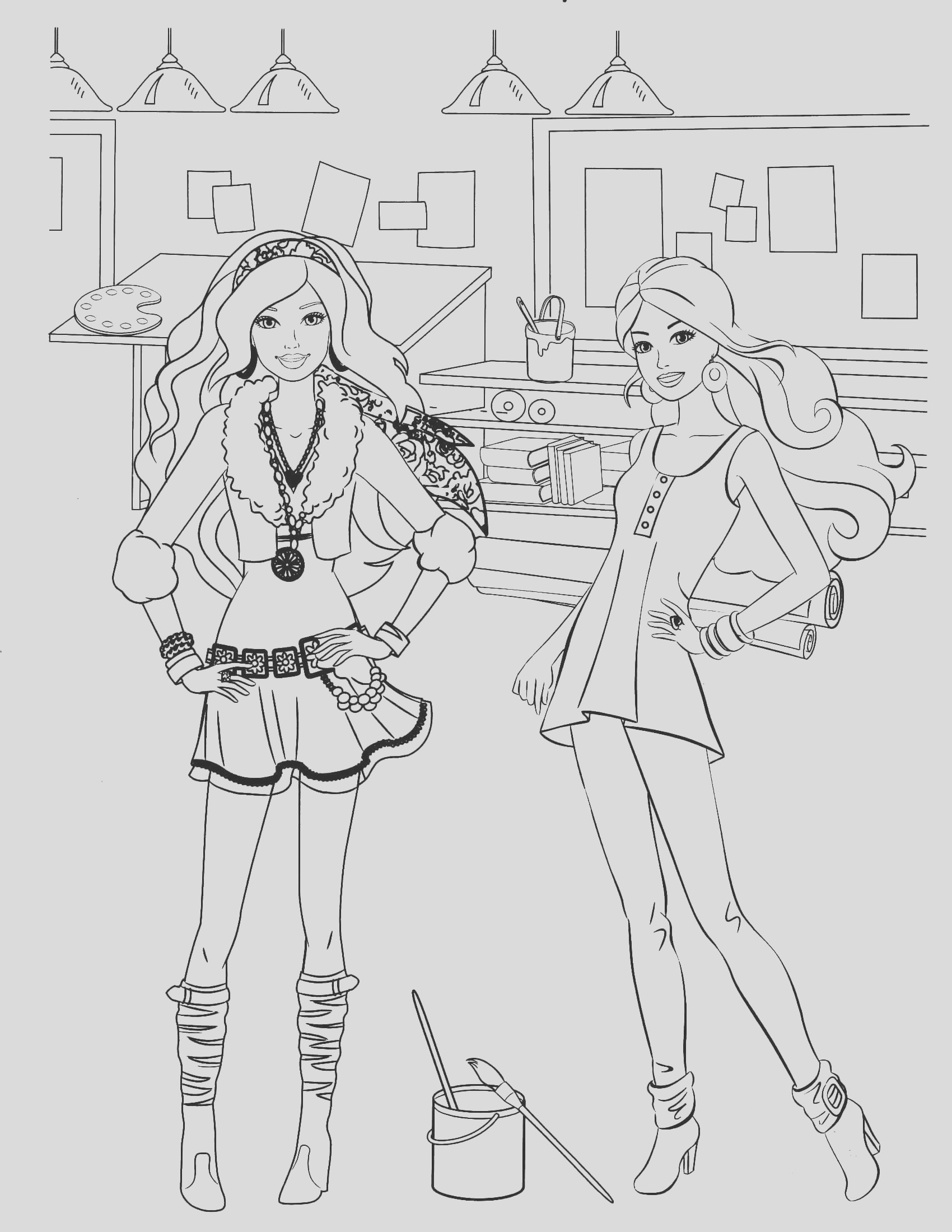 barbie coloring page 86