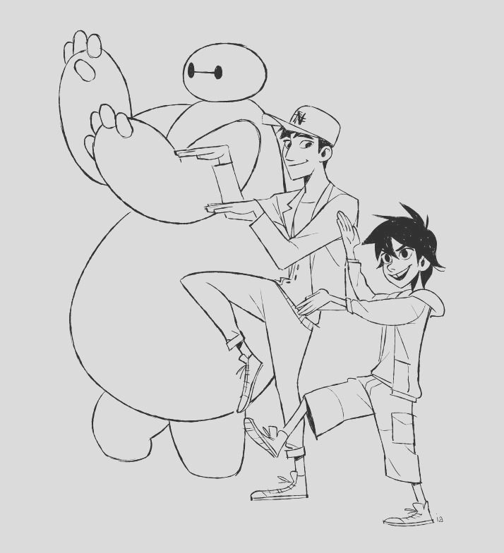 15 awesome big hero 6 coloring pages kids