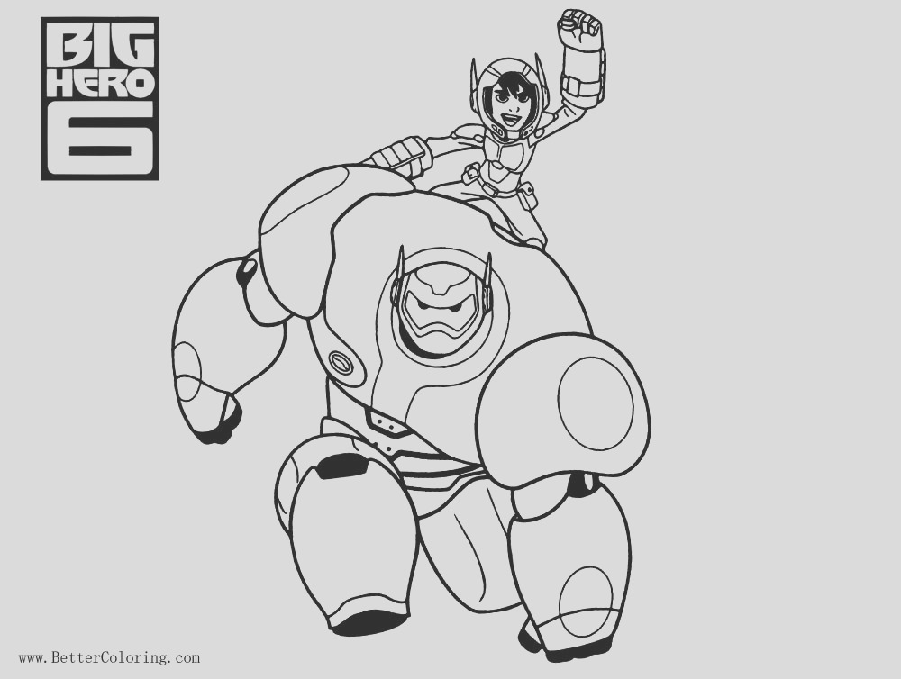 big hero 6 coloring pages characters