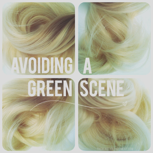 go green with everything but your hair