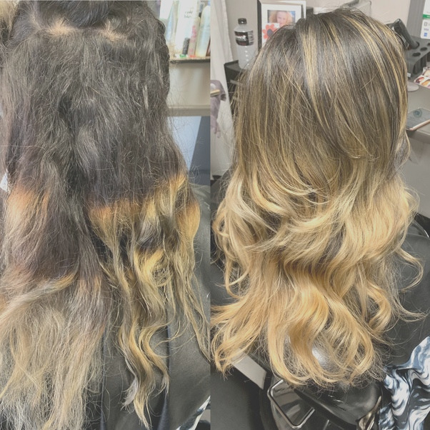 Can I use an ash blonde dye over my uneven bleached hair