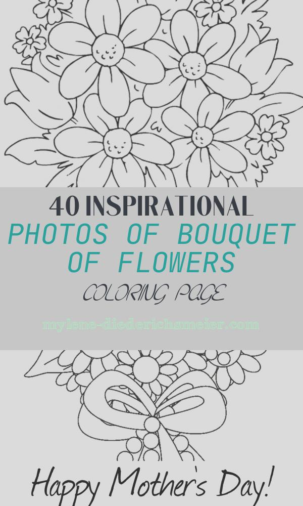 Bouquet Of Flowers Coloring Page Luxury Bouquet Flowers Coloring Pages