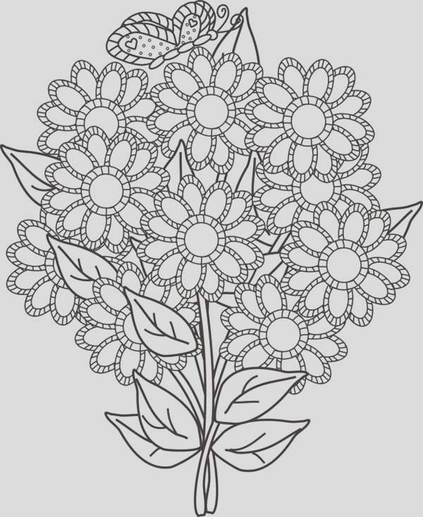 flower bouquet for your wife coloring page