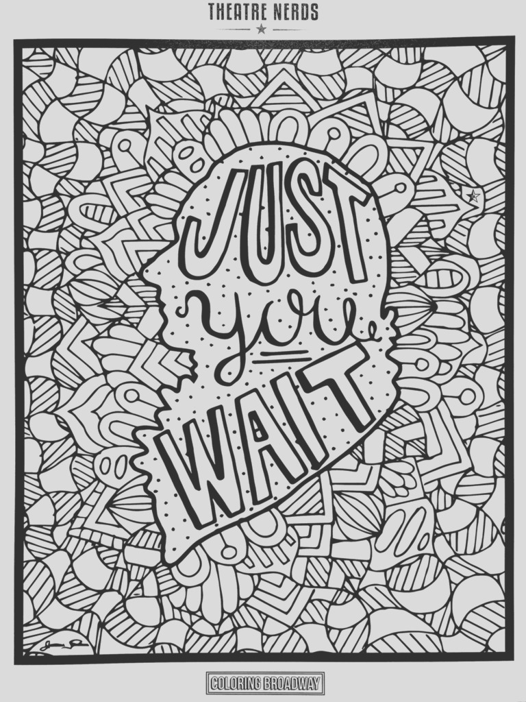 broadway coloring pages