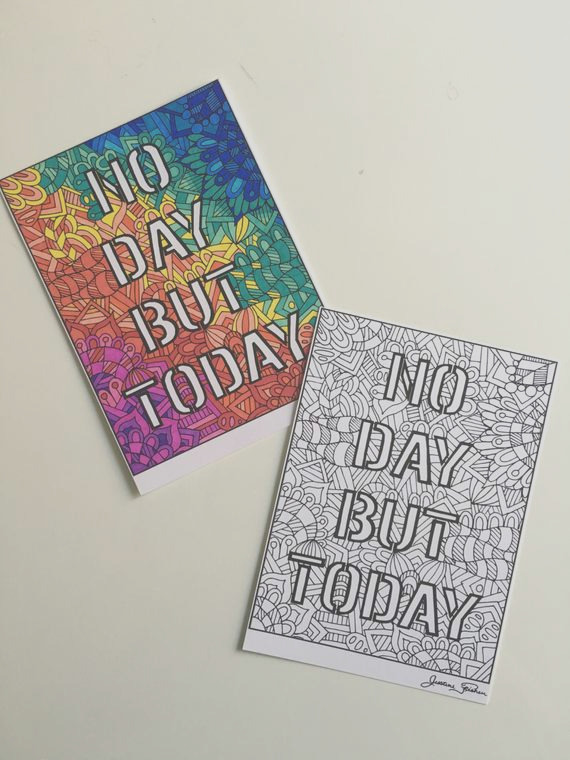 rent no day but today broadway coloring